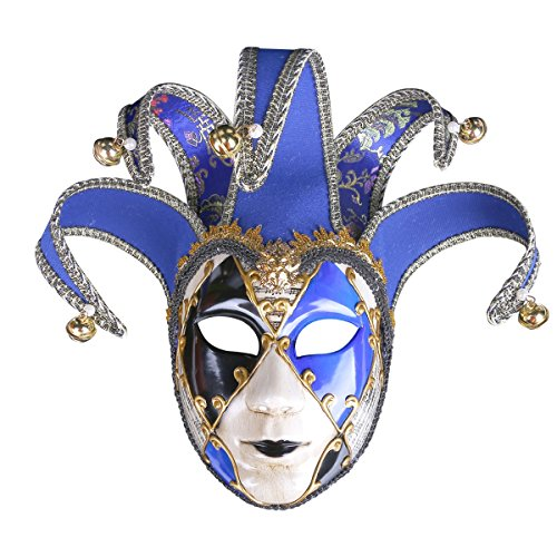WEN-mask European and American Painted Halloween Masks, Prom Party Masks Upscale Venice Performance Masks for Ladies (Color : -