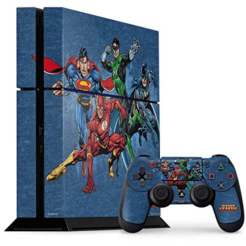 Justice League PS4 Console and Controller Bundle Skin - Justice League Heroes | DC Comics X Skinit (Justice League Heroes)