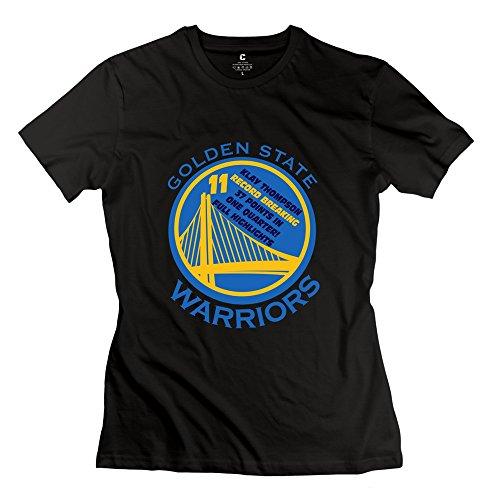 C-DIY Women's T Shirt Summer Golden State Warriors Thompson XS Black