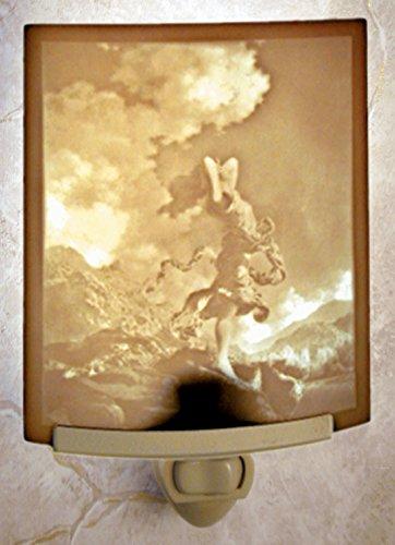 Ecstasy - Maxfield Parrish Art - Curved Lithophane Porcelain Night Light