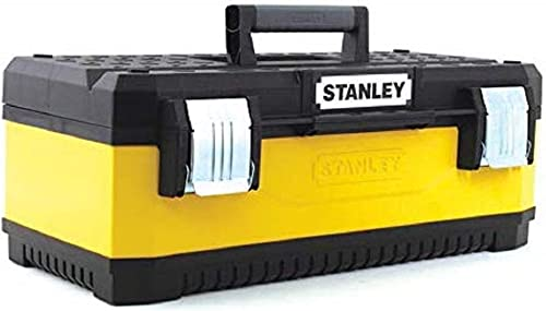 Stanley 1-95-612 20-inch Metal Plastic Toolbox – Yellow