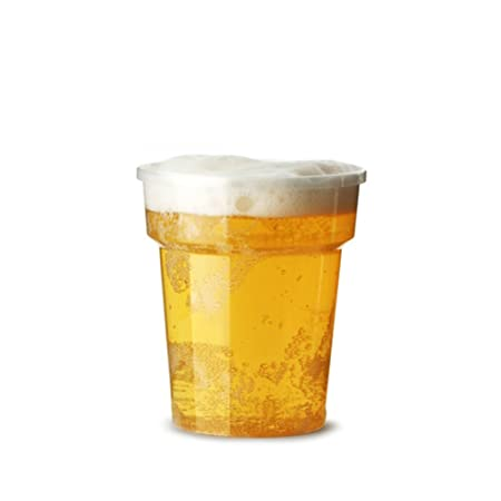Half Pint Cups Disposable Beer Glasses Cups Tumblers 100 X Clear Plastic Pint