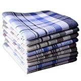 BoosKey Mens Handkerchiefs Hankies 100% Cotton Large Soft Assorted - 6 12 24 Pack (12pcs)