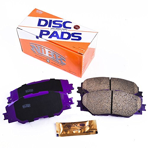 NiBK PN0489 – Noise-Free, Dust-less , Rotor Friendly Premium Ceramic Brake Pads