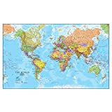 Maps International Giant World Map – Mega-Map of The World – 78 x 48 - Front Lamination - Political