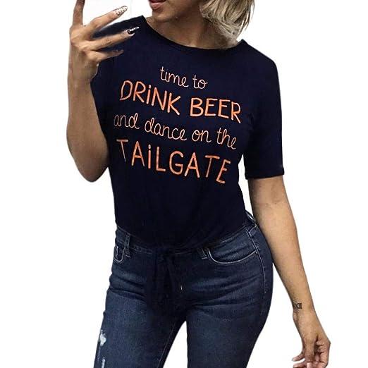 06fb3031d10c6e Staron Women Summer Fashion Short Sleeve Shirt Casual Blouse Tops T-shirt (S