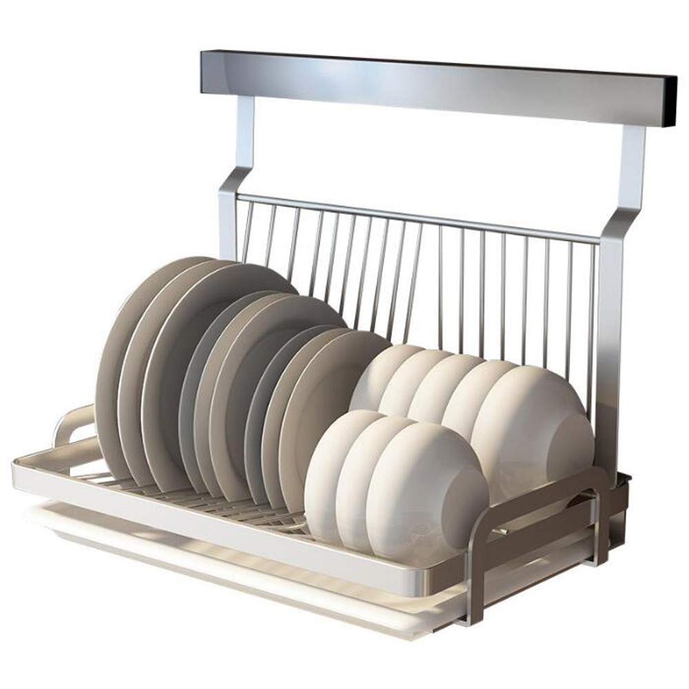 Ctystallove Foldable Stainless Steel Dish Drying Rack with Drainboard Wall Mounted Metal Mesh Storage Organizer Holder by Ctystallove
