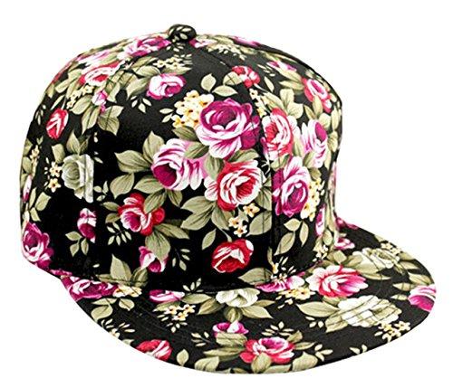 01158221e669b Floral Snapback Adjustable Hip Hop Headwear. Review - Floral Flower Snapback  Adjustable Fitted Men s Women s Hip-Hop Cap Hat Headwear