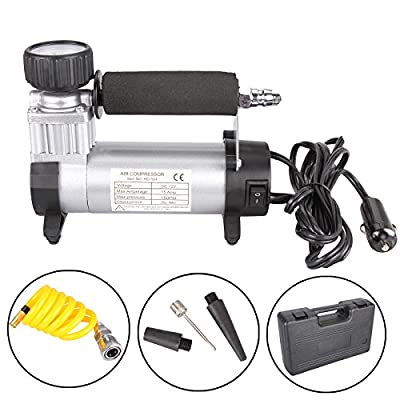 Dromedary Portable Electric Auto Car Tire Inflator Pump Compressor Air Inflator Pump 12v 150 PSI 40L/Min