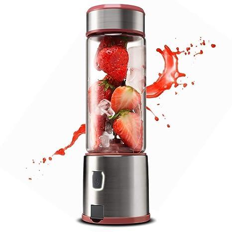YXMJ Mezclador de Frutas Licuadora Portátil con 4 Cuchillas 450ML ...