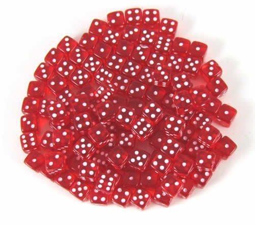 ★決算特価商品★ Red Dice Transparent Dice 5mm d6 d6 B00BXOMZNW 120ea B00BXOMZNW, 楽譜ネッツ:2a962ad5 --- hohpartnership-com.access.secure-ssl-servers.biz