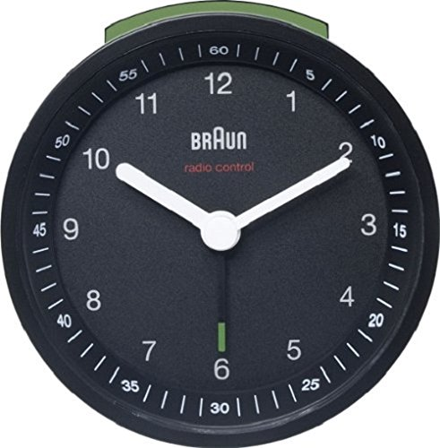 Braun BNC007BKBK Analogue Radio-Controlled Alarm Clock German Precision Quartz Movement DCF (Continental European) Signal