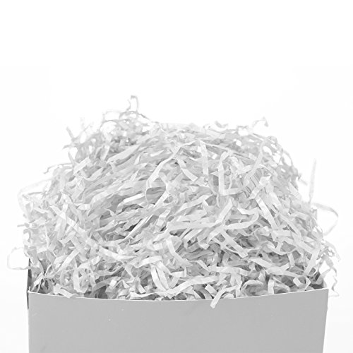 GIFT EXPRESSIONS White Paper Shred for Gift Package filler and kraft, Cut Paper Filler for Gift Wrapping & Basket Filling, Perfect for Stuffing Gift Bags (White) ()