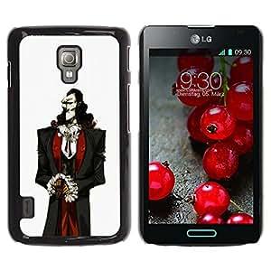 Paccase / SLIM PC / Aliminium Casa Carcasa Funda Case Cover - Vampire Aristocrat Man White Skin Black Hair - LG Optimus L7 II P710 / L7X P714