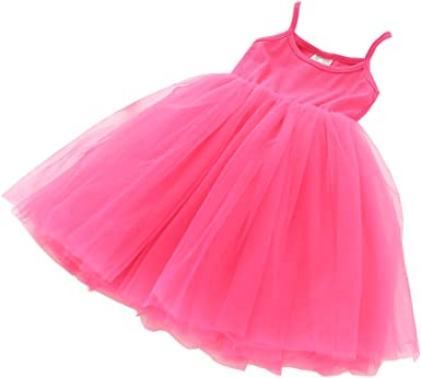 Toddler Baby Girls Tutu Dress Sleeveless Tulle Skirts Dress Princess Dress Sundress
