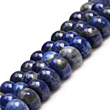 Joe Foreman Lapis Lazuli Beads for Jewelry Making Natural Gemstone Semi Precious 10x15mm Rondelle Blue 15''
