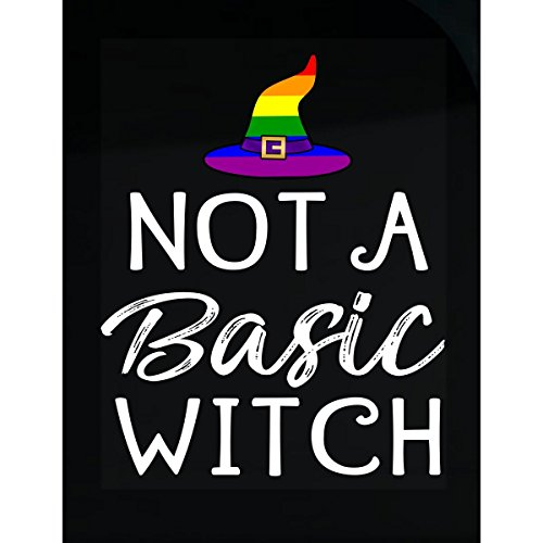 Halloween Lgbt Gay Pride Not A Basic Witch Rainbow Hat - Sticker