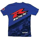 Suzuki GSXR Gixxer GSX-R Back Straight Short Sleeve T-Shirt Blue