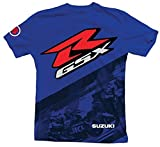 Suzuki GSXR Gixxer GSX-R Back Straight Short Sleeve T-Shirt Blue XX-Large