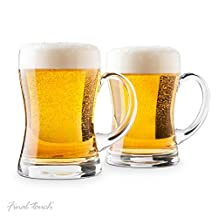 Final Touch Beer Mugs, Set of 2