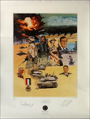 President George H.W. Bush - Printed Art Signed In Pencil with co-signers ()