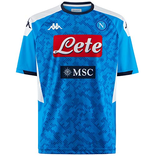 Napoli Blue Shirt - Ssc Napoli Italian Serie A Men's Replica Home Match Shirt, SkyBlue, L