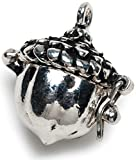 Darice Prayer Box Metal Charm 1/Pkg Antique Silver Acorn