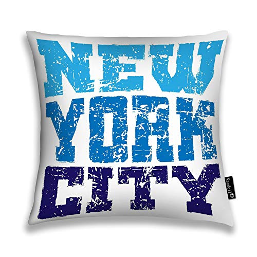 Randell Throw Pillow Covers New York Athletic Style NYC Fashion American Stylish Home Decorative Throw Pillowcases Couch Cases 20