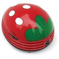niceeshop(TM) Mini Aspirador de Polvo de Limpiador del Escritorio de Electrónico de Puntos Blancos de Fresa, Rojo