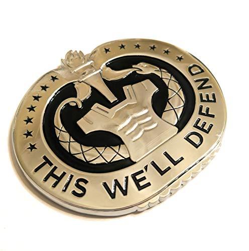 Shadow Six Romeo Military Army Chrome Metal Decal Auto Emblem (Drill Sergeant Badge)