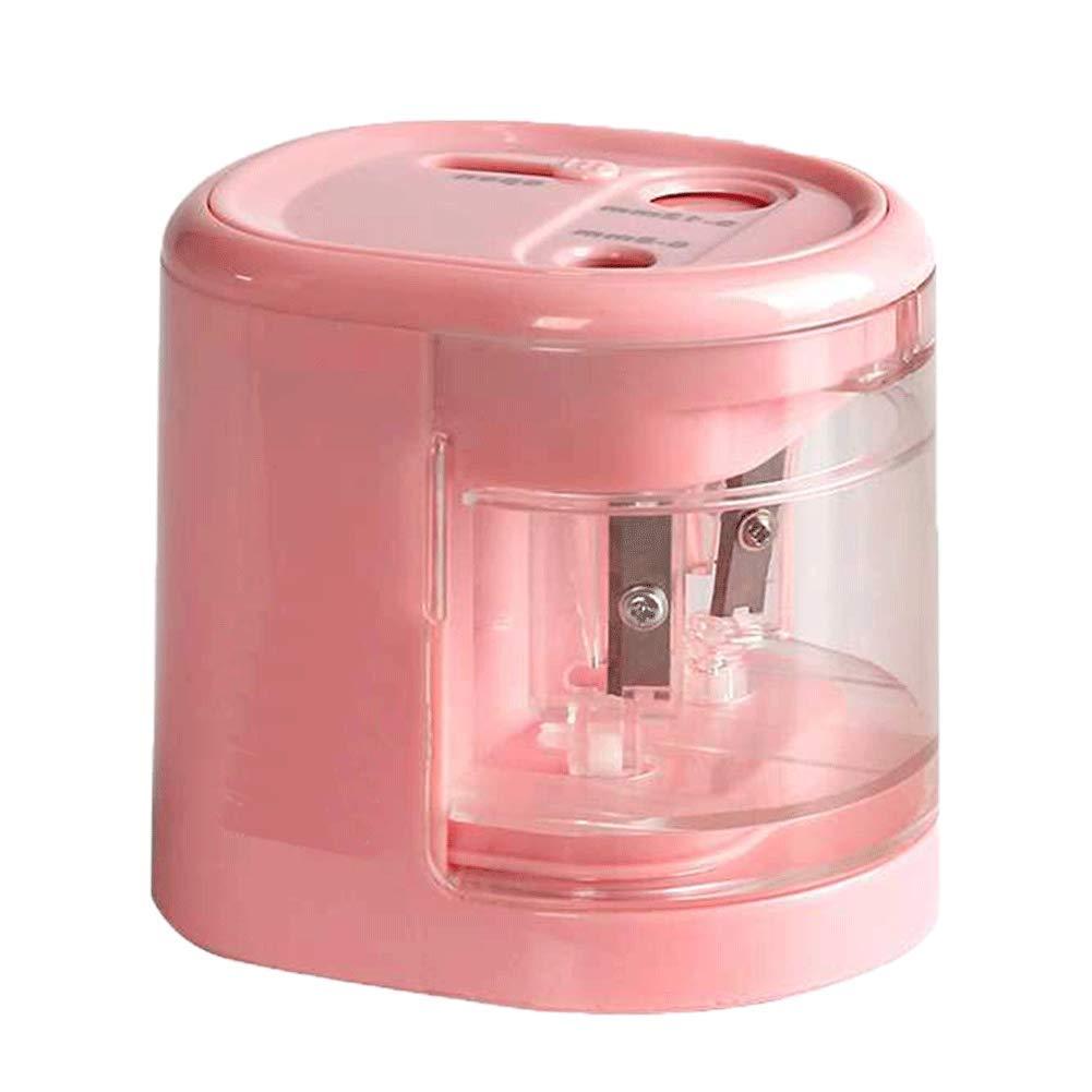 Xiton 1 PC elettrico temperamatite del foro doppio USB o batteria bambini di sicurezza temperamatite per la scuola aula Home Office colore rosa