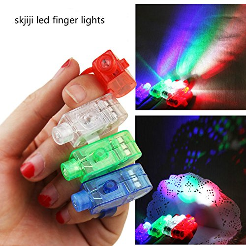 [skjiji Skjiji Super Bright Finger Flashlights Led Finger Lamps Rave Finger Lights, Pack Of 12] (The Elf Costume Prices)