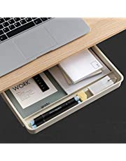 $25 » Airtaxiing Under Desk Drawer - Large Under Table Hidden Drawer Desktop Storage Pen Pencil Slide Out Pull Out Organizer Adhesive Storage Stick on Shelf at Home School Office Paste Tray