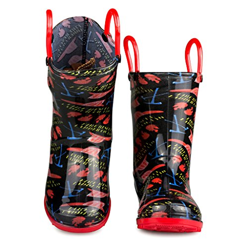 Chillipop-Rainboots-for-Boys-Girls-Toddlers--Fun-Kids-Prints-Pull-On-Handles