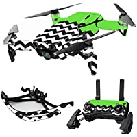MightySkins Skin for DJI Mavic Air Drone - Lime Chevron | Max Combo Protective, Durable, and Unique Vinyl Decal wrap cover | Easy To Apply, Remove, and Change Styles | Made in the USA