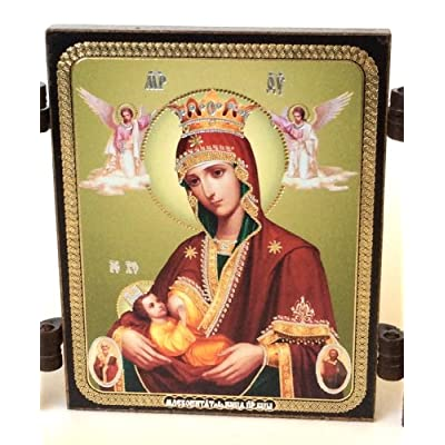 BuyRussianGifts Holy Mother with Child Archangel Michael Gabriel Orthodox Russian ICON: Toys & Games