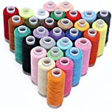 Candora Sewing Thread Coil 30 Color 250 Yards Each Polyester All Purpose for Hand and Machine Sewing