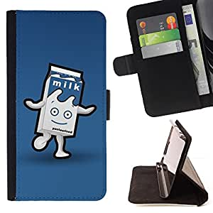 """For Motorola Moto E ( 2nd Generation ),S-type Cartón Carácter azul Happy Kids"""" - Dibujo PU billetera de cuero Funda Case Caso de la piel de la bolsa protectora"""