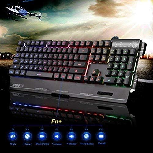 Sades K8 Blademail PC Gaming Teclados 19 Teclas de no conflicto Material del Metal (Negro)