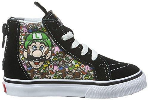 Vans Unisex Baby Sk8-Hi Zip Laufschuhe Mehrfarbig ((Nintendo) Mario & Luigi/true white)