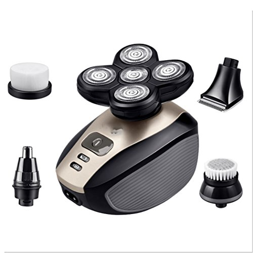 Electric Shaver Men Rotary Razor Beard Nose Hair Trimmer Face Cleaning Set 4 In 1 Wet Dry Cordless Waterproof Portable Travel Shaver For Nose Hair Face care - Comb 4in Grooming 1