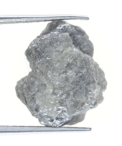 9.65 TCW Natural Rough Sparking Silver Grayish Color Diamond by Kakadiya Group