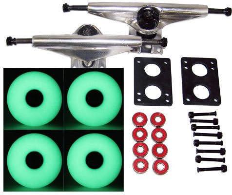 半径Longboard Skateboard Trucks &グローin theダークホイールパック70 mm
