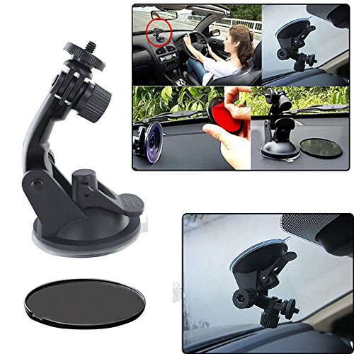 EEEKit Starter Kit for Mobius Action Camera 1080P HD Mini Sports Cam, Car Windshield Suction Cup Mount + Sunction Cup Pad + 360 Rotatable Tripod Portable Stand Mount Holder + Card Reader