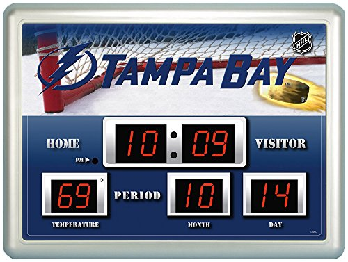 - Team Sports America Tampa Bay Lightning Digital Scoreboard Wall Clock