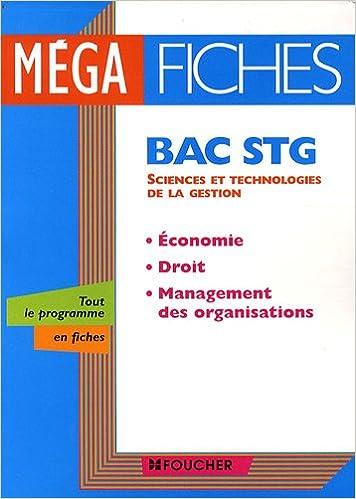 Livre Economie, droit, management des organisations Bac STG epub, pdf