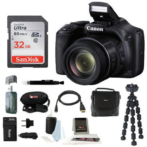 Canon Powershot SX530 HS Camera with 32GB Deluxe Accessory Kit by Canon