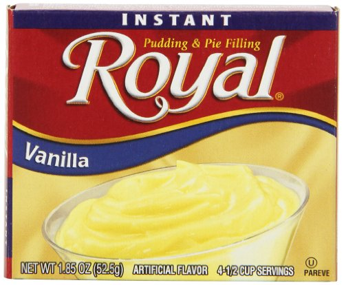 Royal Instant Pudding Dessert Mix, Vanilla, Fat Free (12 - 1.85 oz Boxes)