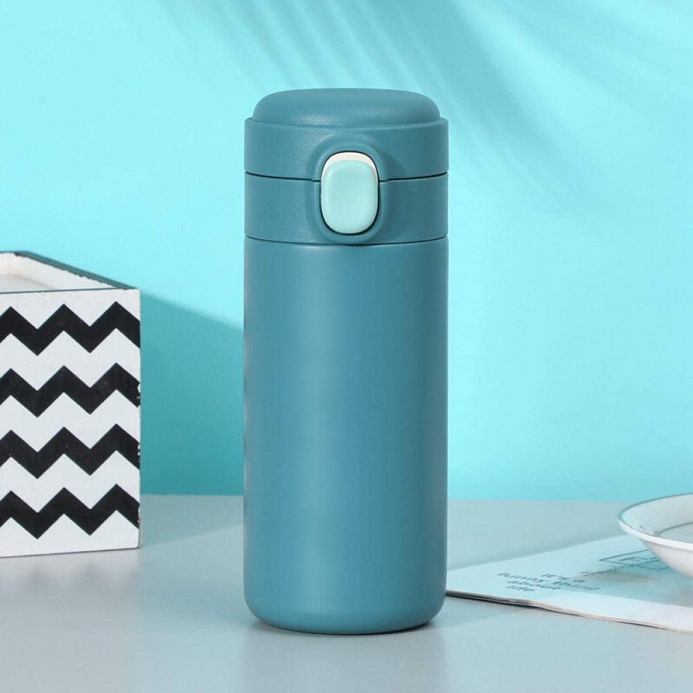 agua acero inoxidable botella termica Moderno minimalista de doble capa de vacío creativo rebote taza portátil de aislamiento cup-300ML_verde