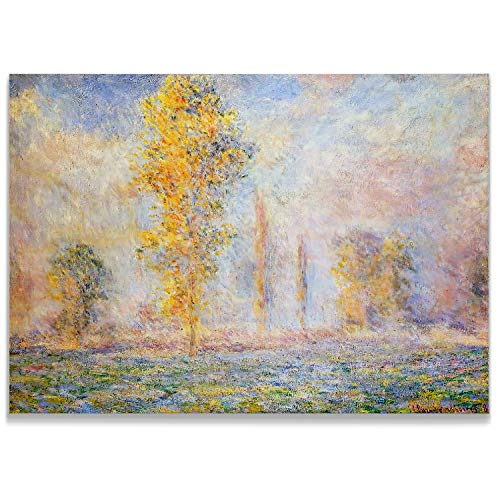 Monet Wall Art Collection Meadow at Giverny, 1888 Canvas Prints Wrapped Gallery Wall Art | Stretched and Framed Ready to Hang - Stretched Canvas 1888